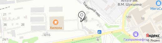Магазин обоев и хозяйственных товаров на карте Бийска