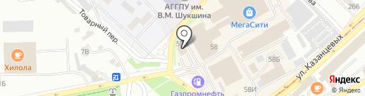 Модерн на карте Бийска