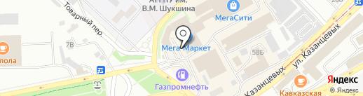 Закусочная на карте Бийска