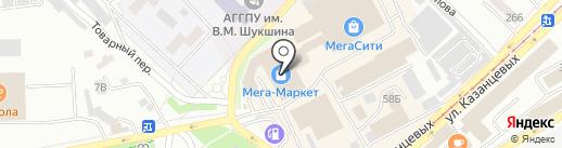 Джинсовый стиль на карте Бийска