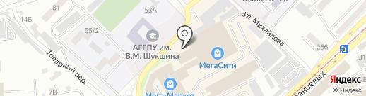 Нисса на карте Бийска