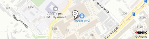Быстроном на карте Бийска