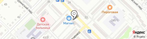 Пена на карте Бийска