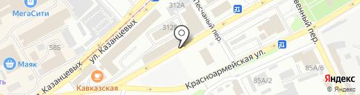 Ирбис на карте Бийска