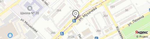 Сеть магазинов на карте Бийска