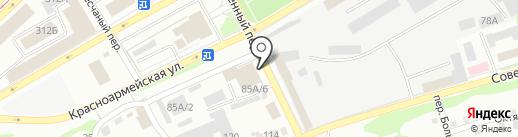 Баня №1 на карте Бийска