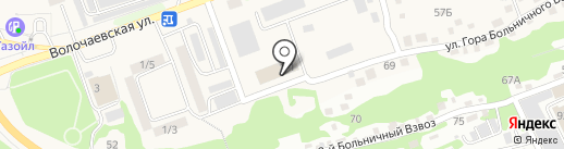 Водоканал г. Бийска, МУП на карте Бийска