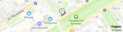Пекарня №1 на карте Бийска