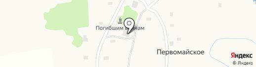 Сельская библиотека на карте Первомайского