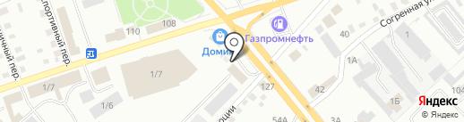 Тальянка на карте Бийска