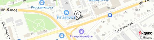 Приобское ДЭУ на карте Бийска