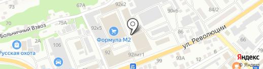 Азимут на карте Бийска