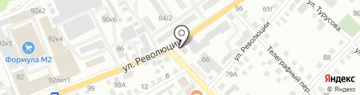 БийскСвет, МУП на карте Бийска