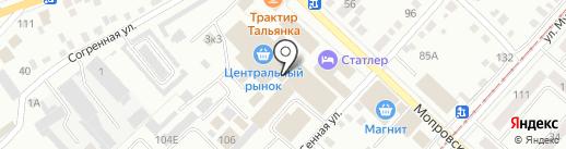 Апельсинка на карте Бийска