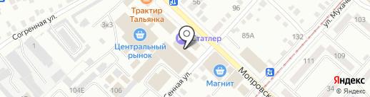 Сибирский хлеб на карте Бийска