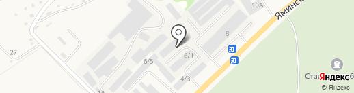 ОЛАН на карте Бийска