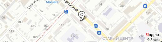 Магазин низких цен на карте Бийска