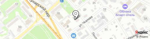 Пиранья на карте Бийска