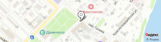 Бийская обувная фабрика на карте Бийска