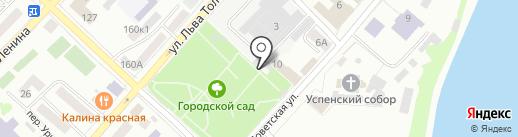 Городской сад на карте Бийска