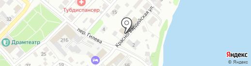 Центр закупок на карте Бийска