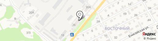 Почтовое отделение №18 на карте Бийска