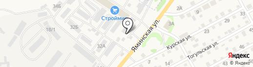 Дальнобойщик на карте Бийска