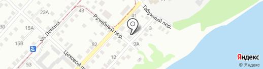Из Бийской Крепости на карте Бийска