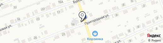 Магистраль на карте Первомайского