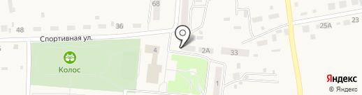 Вырастайка на карте Первомайского