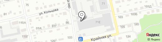 Заречье на карте Бийска