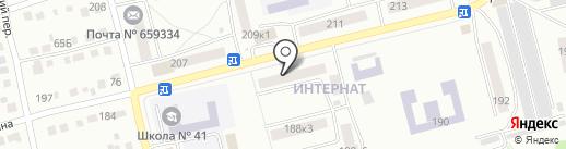 Пуговка на карте Бийска