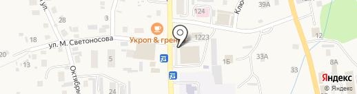Киоск по продаже мороженого на карте Алтайского