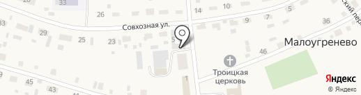 Пивной маркет на карте Малоугренёво