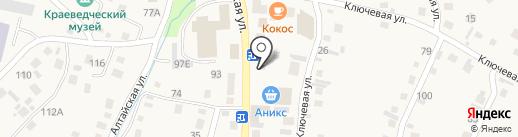 Тещин погребок на карте Алтайского