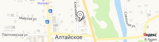 Лолита на карте Алтайского
