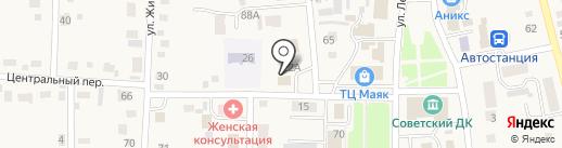 Каскад на карте Советского