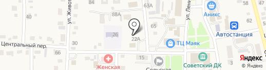 Звездочка на карте Советского