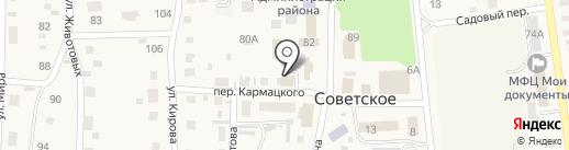 Сибирь на карте Советского
