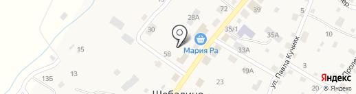 Магазин ритуальных принадлежностей на карте Шебалино