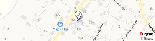 Силуэт на карте Шебалино