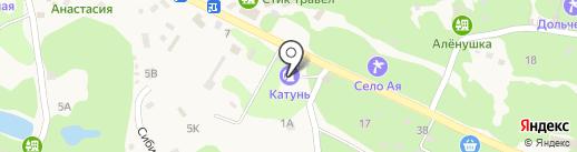 АЗС Синтез на карте Катуни