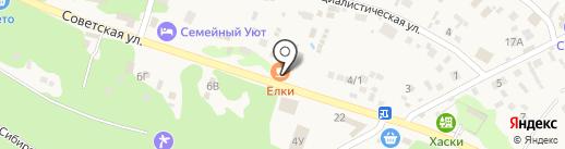 Бистро-Елки на карте Катуни