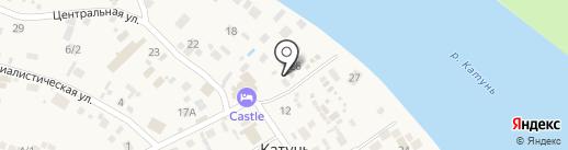 Ласковый берег на карте Катуни