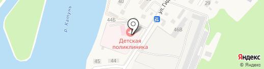 Майминская РБ, БУЗ РА на карте Маймы