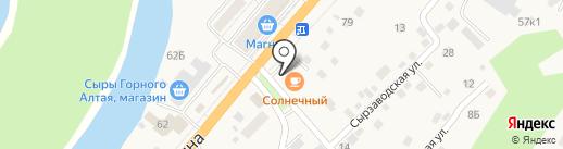 Солнечный на карте Маймы