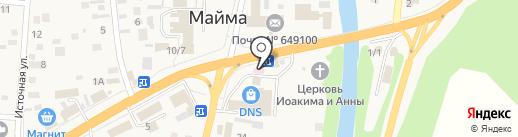 Здравушка на карте Маймы
