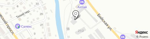 Мастерская по ремонту автостекол на карте Горно-Алтайска