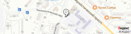 Алтай-Шина на карте Горно-Алтайска