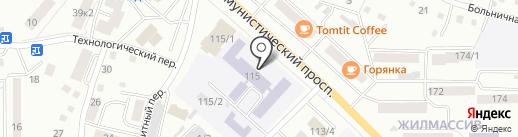 Коррекционная школа-интернат на карте Горно-Алтайска